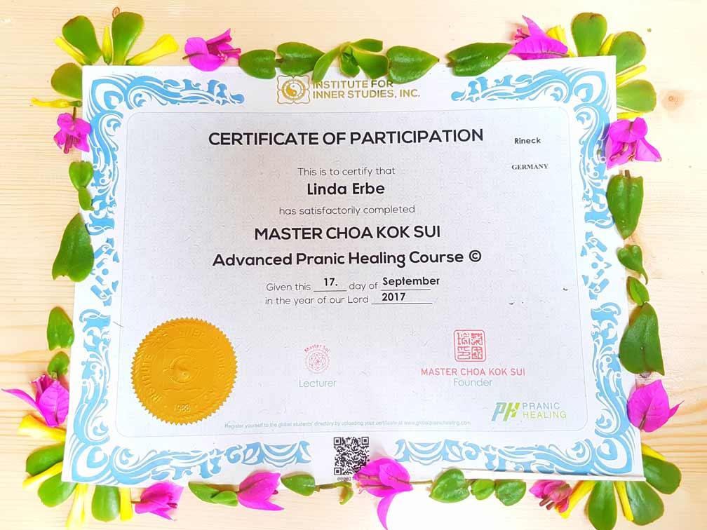 Pranic certificate